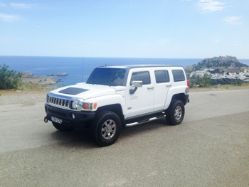 Hummer H3 rent a car in rhodes georgecars